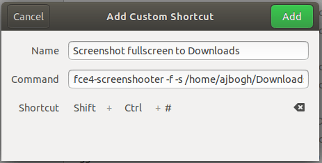 Screenshot Fullscreen to Downloads