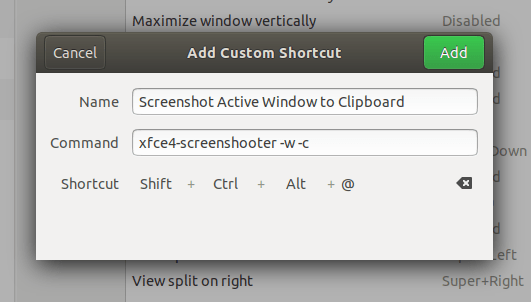 Screenshot Active Window to Clipboard