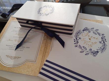 Bespoke stationery - NAVY & GOLD INVITATION ENSEMBLE