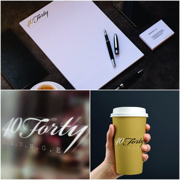 Branding - 40 FORTY LOUNGE- Identity design, brand collateral design, brand manual