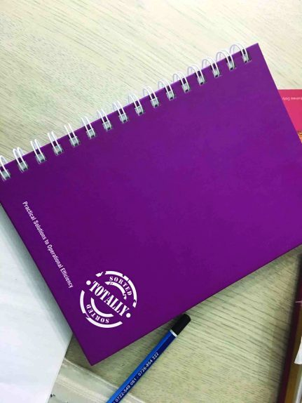 Design & Print - Totally Sorted notebooks