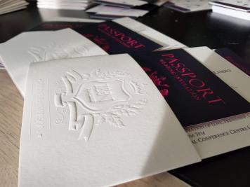 Passport style invite