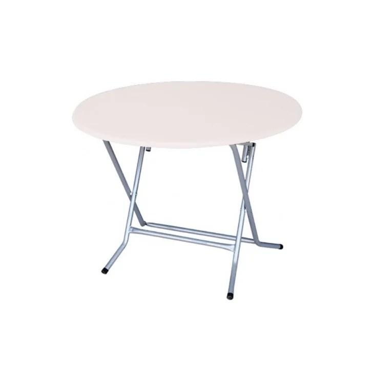 table ronde pliante pvc 100cm