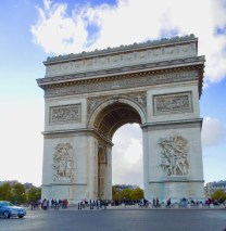 The Arc, with a rare gap in the traffic which encircles it. (Allan Lynch Photo)