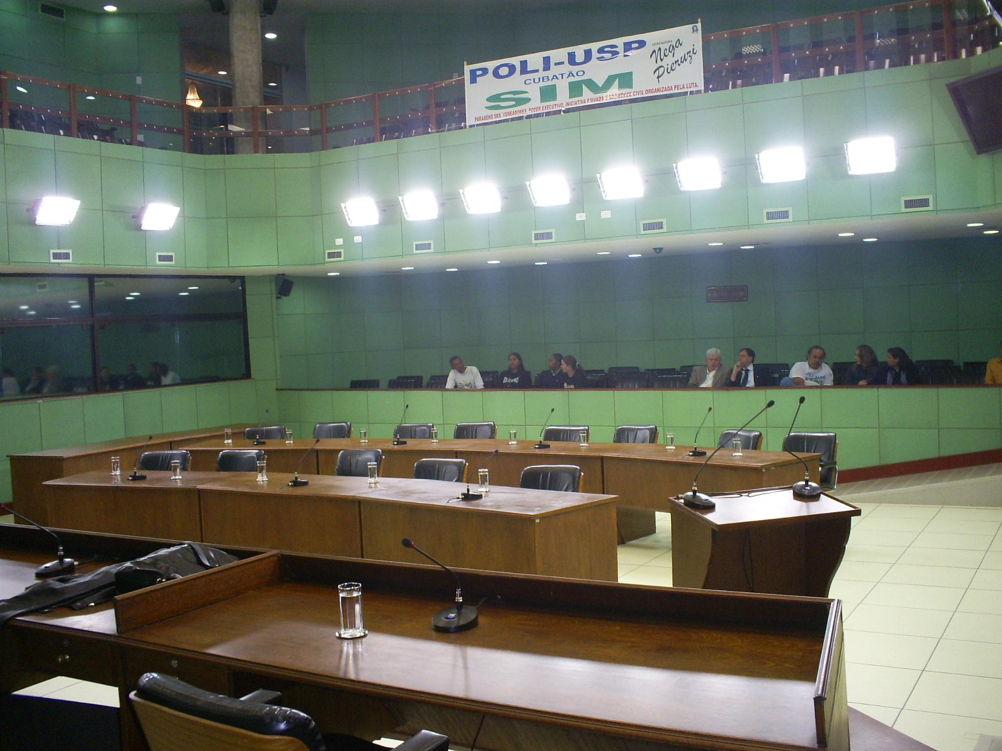 Plenário da Câmara: pouco comparecimento popular. (Foto: Allan Nóbrega)