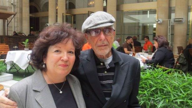 Leonard Cohen & Annie Boile In Paris