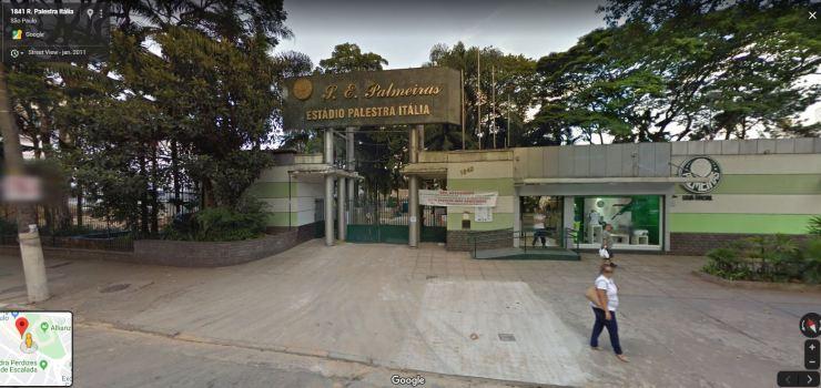 Fachada do Palestra Itália - 2011 - Foto: Google Street View
