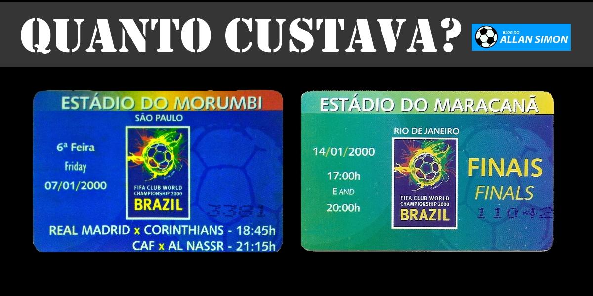 Ingressos do Mundial de Clubes de 2000, realizado no Brasil
