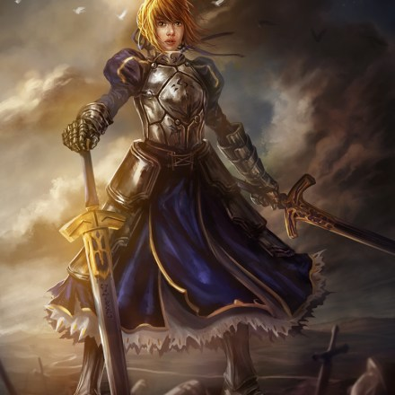 Fanart of Saber from 'Fate' Series