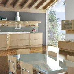 Blonde Kitchen Cabinets Canisters Ceramic Wood