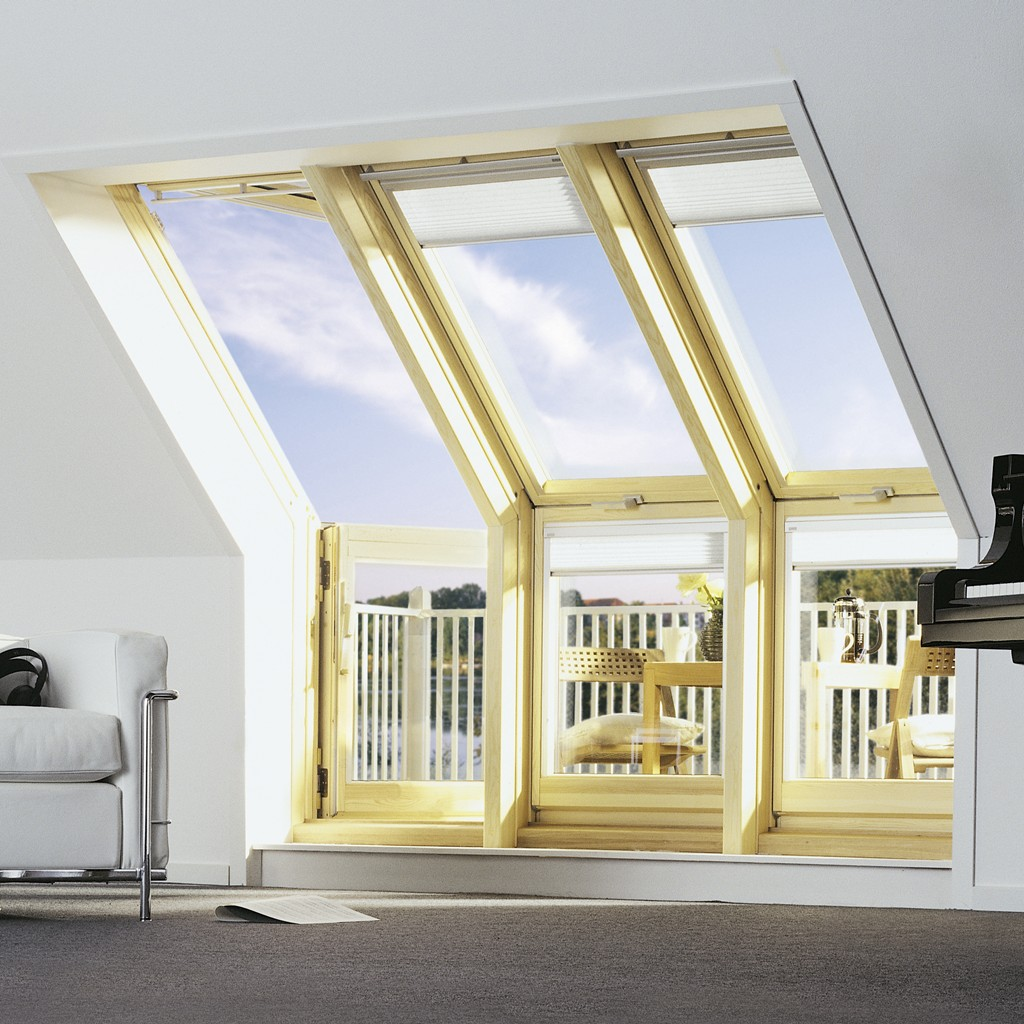 roof window transformed into