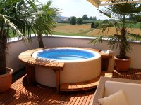 Backyard with hot tubs - AllArchitectureDesigns