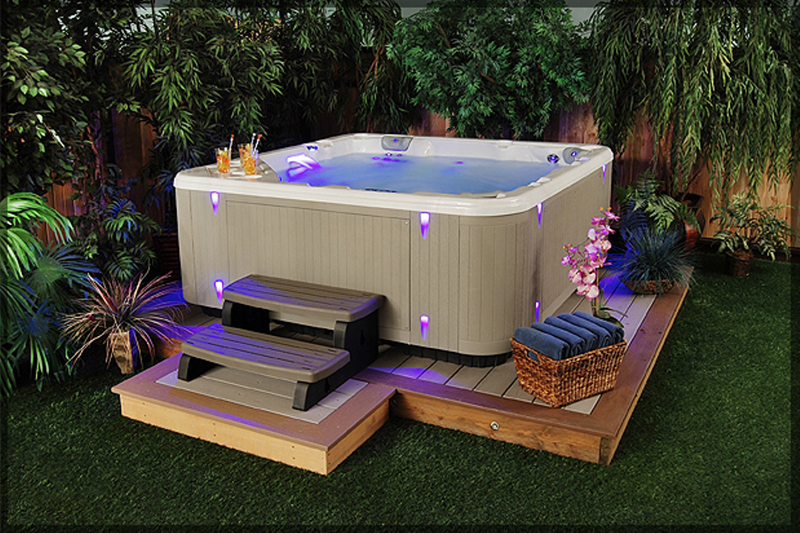 Image result for pictures of hot tubs and backyard