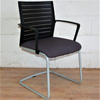 STEELCASE WERNDL Visitors Side Chair Grey 1026