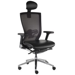 Office Chair Uk Booster Seat Asda X Mesh Executive With Headrest Milani