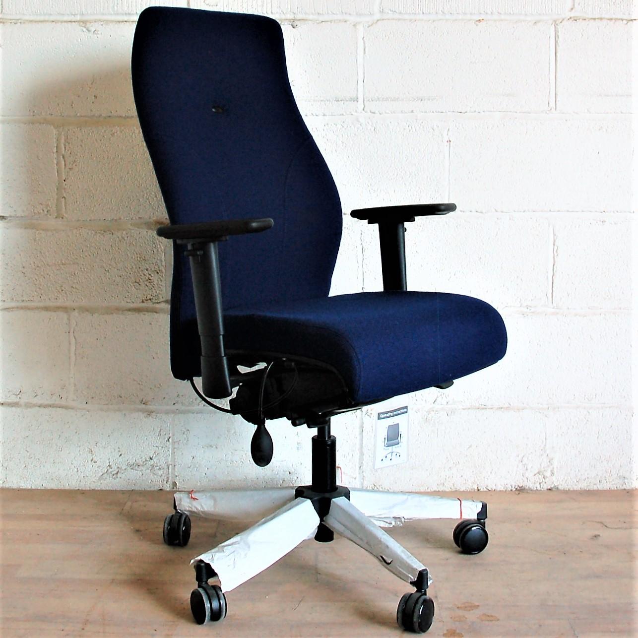 navy office chair armchair slipcover diy executive task blue fully adjustable 2098