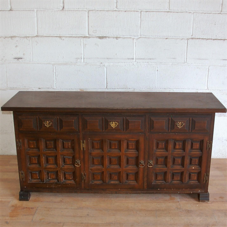 Vintage Dark Wood Sideboard 9023  Allard Office Furniture