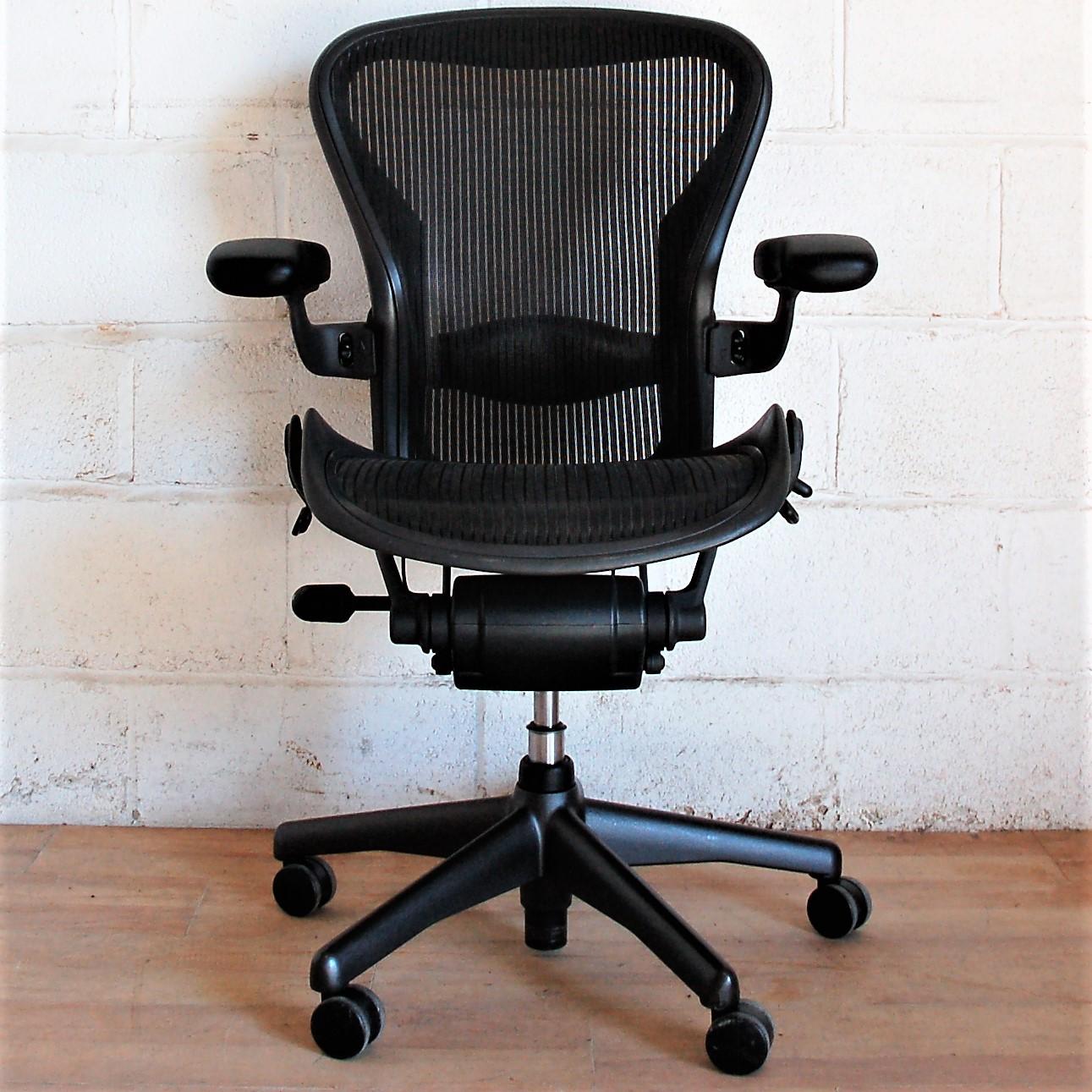 HERMAN MILLER Aeron Size B Task Chair 2180 Swivel Chair