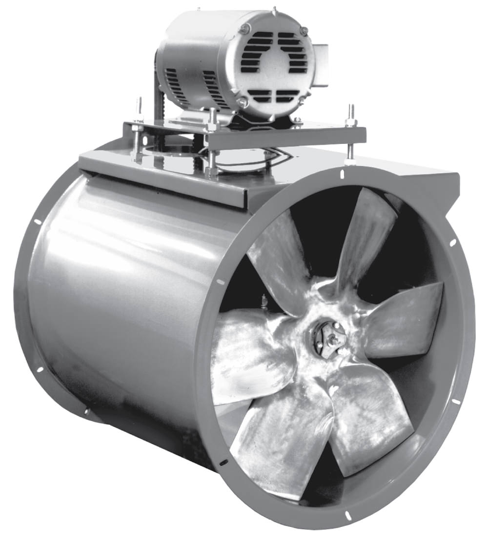 Axial Fan Parts : Afb c tube axial fan belt drive all around industry supply