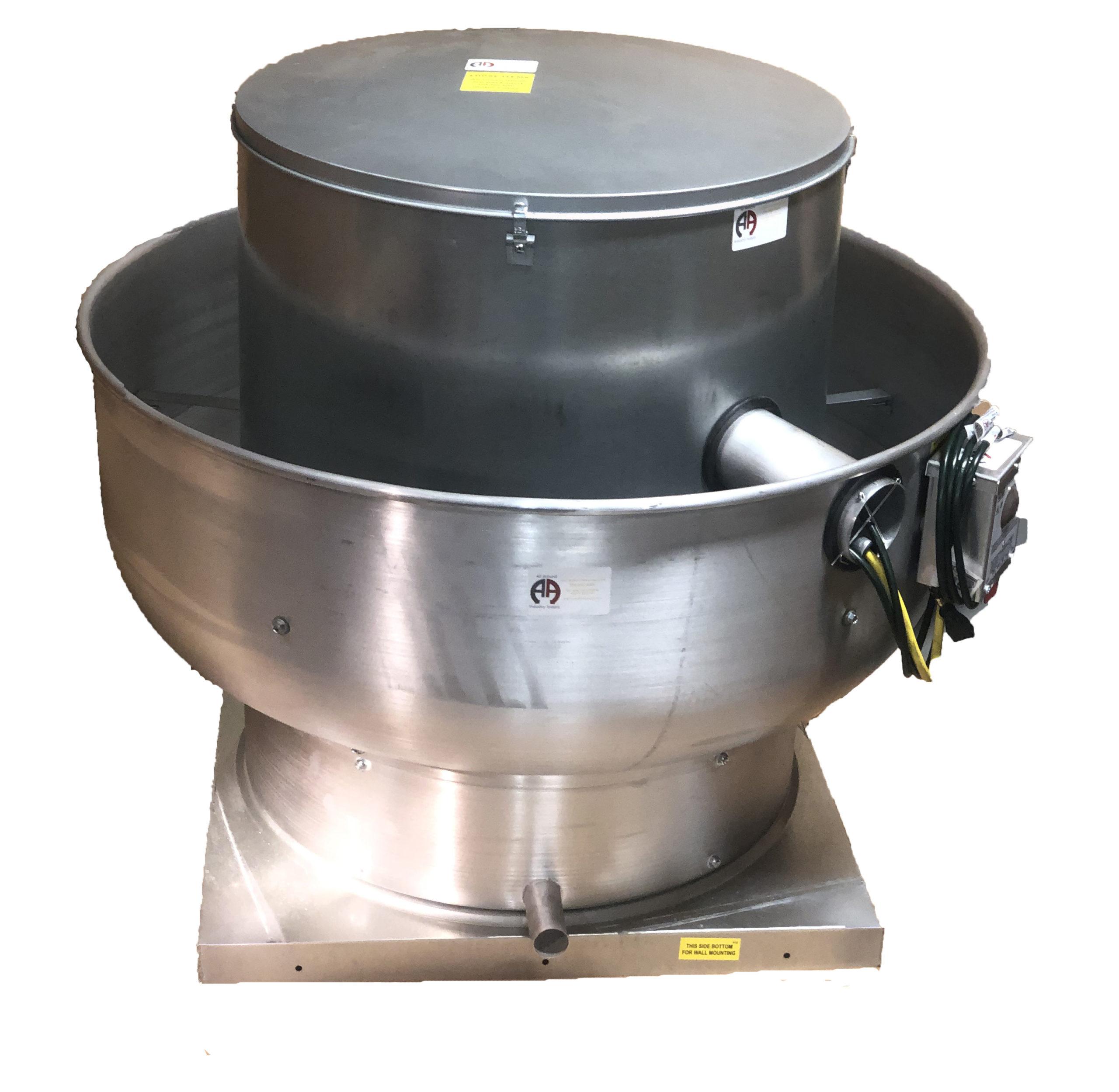400 cfm 19 x19 base all around industry supply s acw500 du12 upblast 19 x19 base exhaust fan 115v 230v 1ph