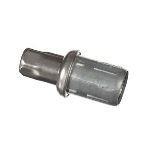"""1-1/2"""" Round Stainless Steel Clad Zinc Die Cast Adjustable Hex Foot Insert"""