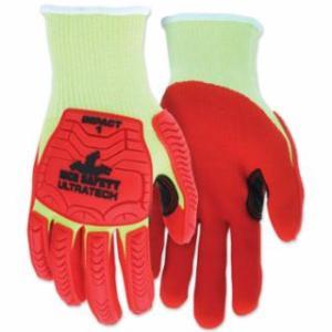 "127-UT1953XXL UT1953 UltraTechâ""¢ A4/Impact Level 1 Mechani Knit Glove, 2X-Large, Hi-Viz Lime; Red"