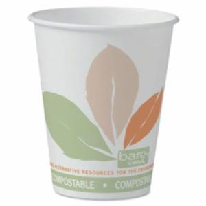670-378PLA-BB Eco-Forward Compoable PLA Paper Hot Cups, 8 oz, Bare