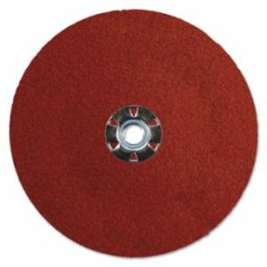 804-69896 Tiger Ceramic Resin Fiber Dis, 7 in Dia, 5/8 Arbor, 50 Grit, Ceramic