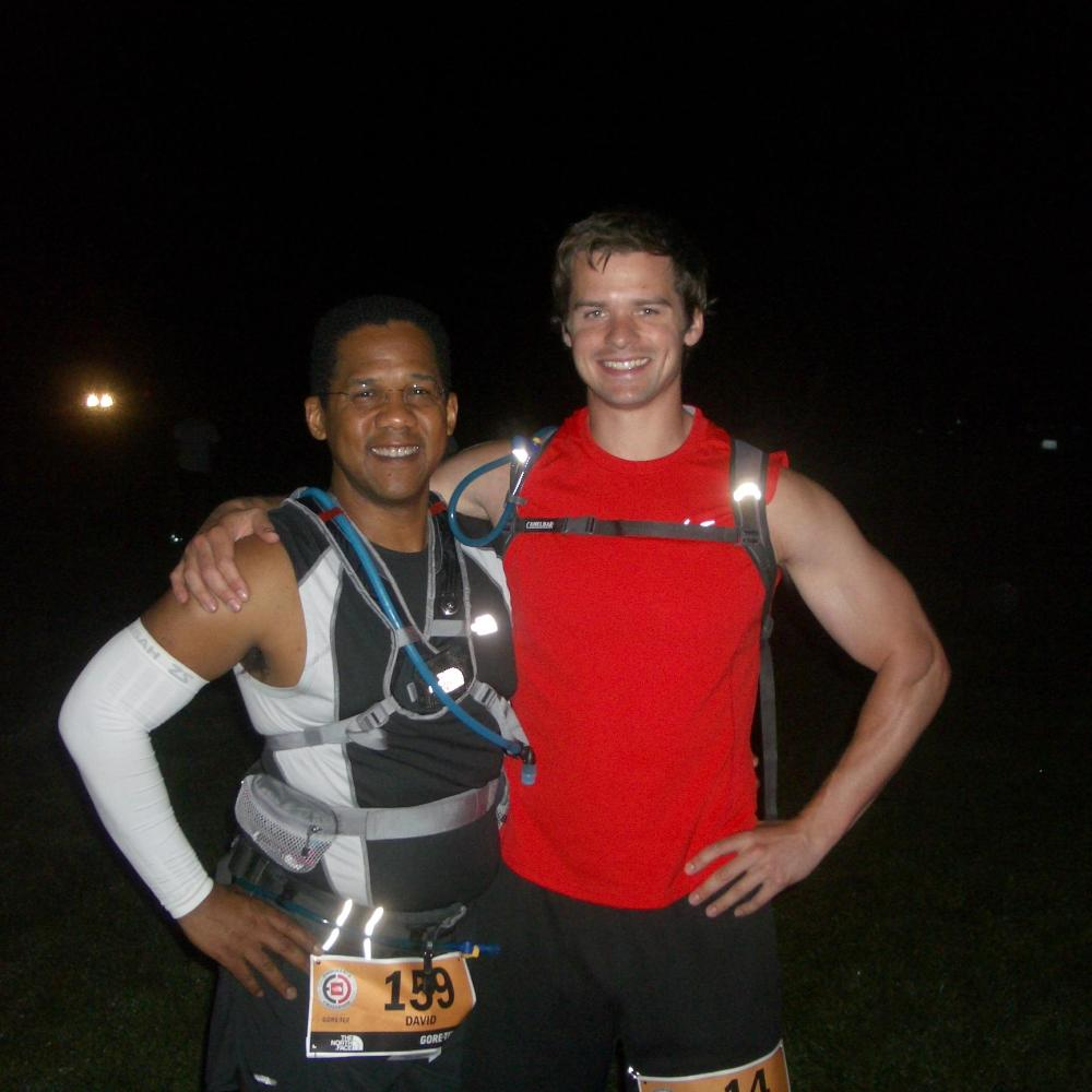 Joe & David before the north face endurance challenge 50 mile race in WA DC