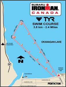 Ironman Canada Penticton swim course