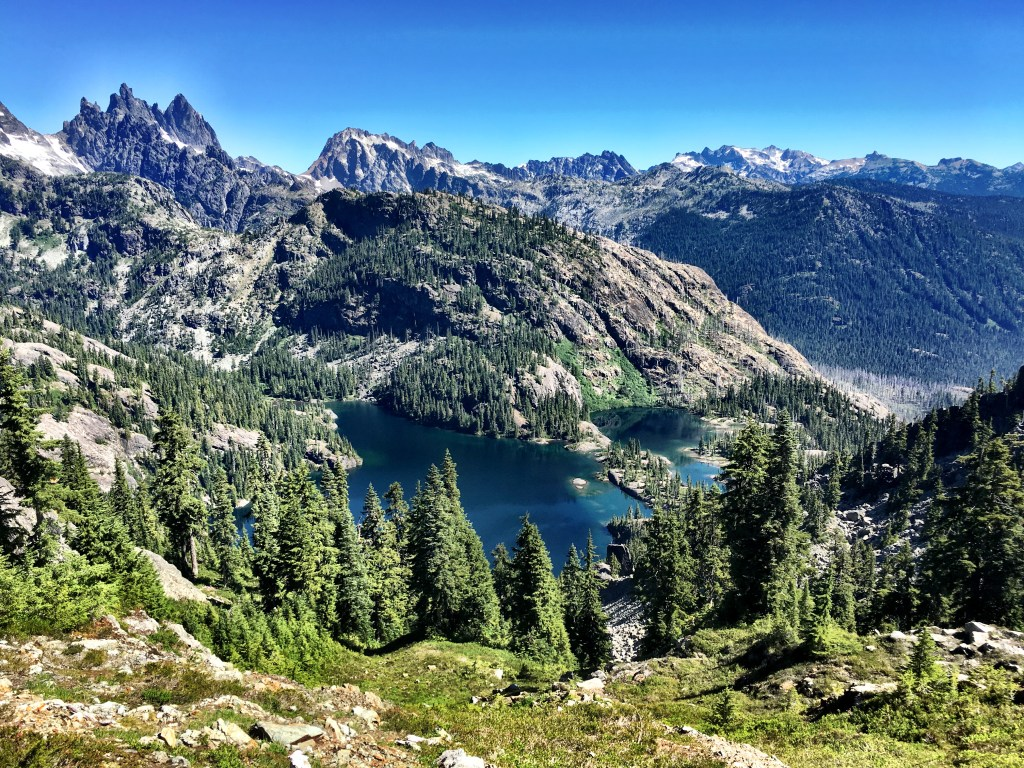 Spectacle Lake While Hiking Out on Stevens pass to Snoqualmie pass