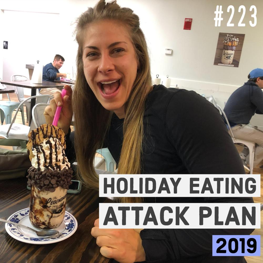 Holiday eating attack plan 2019 with Joe Bauer and Emily Kramer (model)