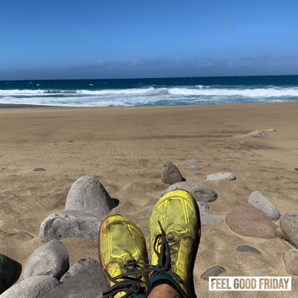 Feel Good Friday - December Blues - Rainbows - Medications To show how awesome life can be if you're on a beach with running shoes on.