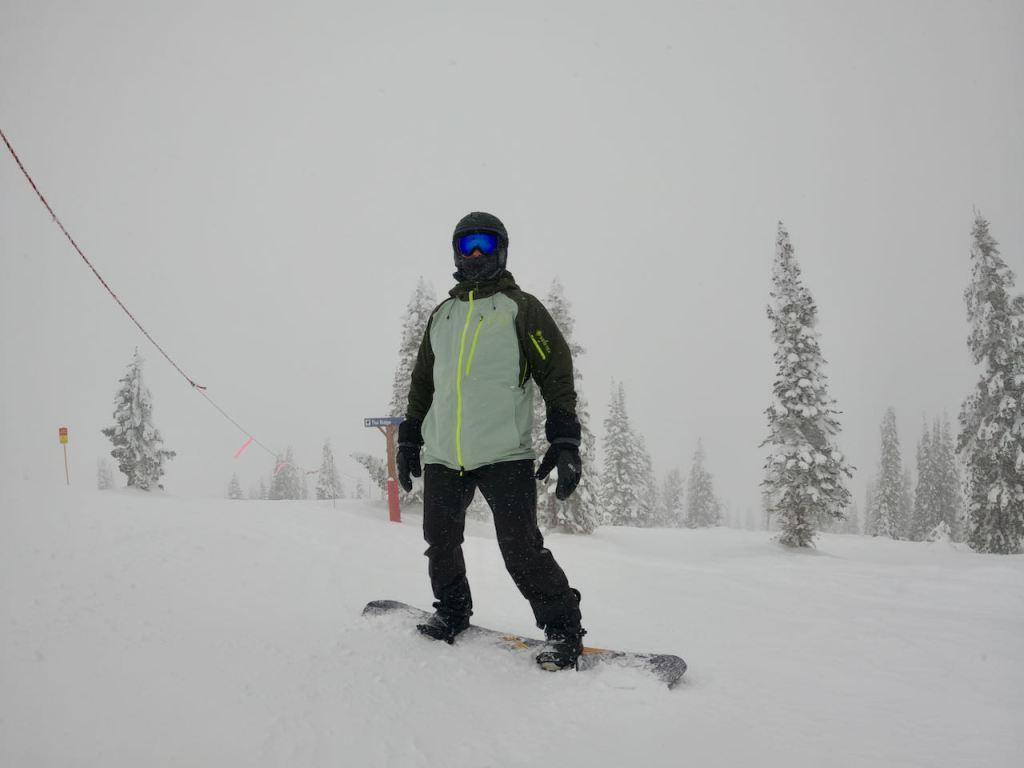 Joe doing some snowboarding at Steamboat Springs resort