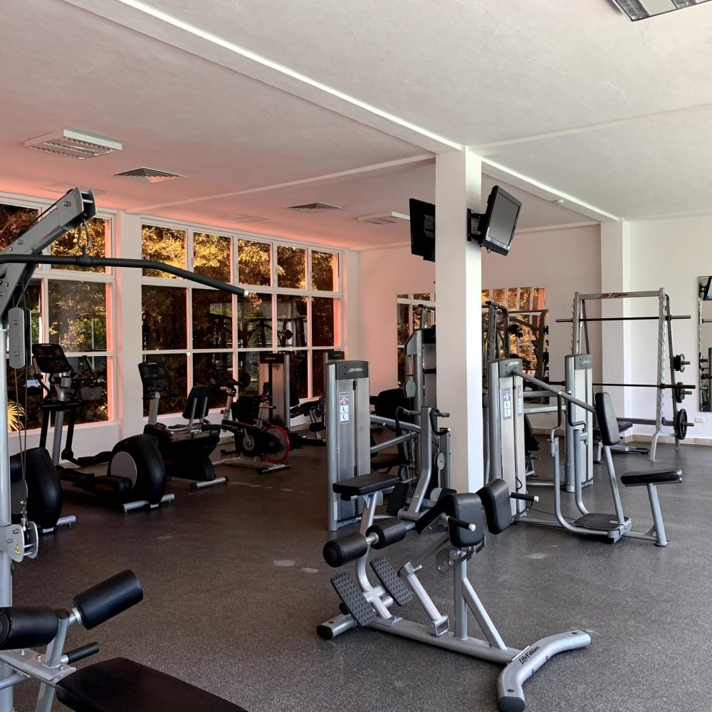 Wide open gym when starting a new fitness routine