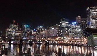 darling harbour sydney by night