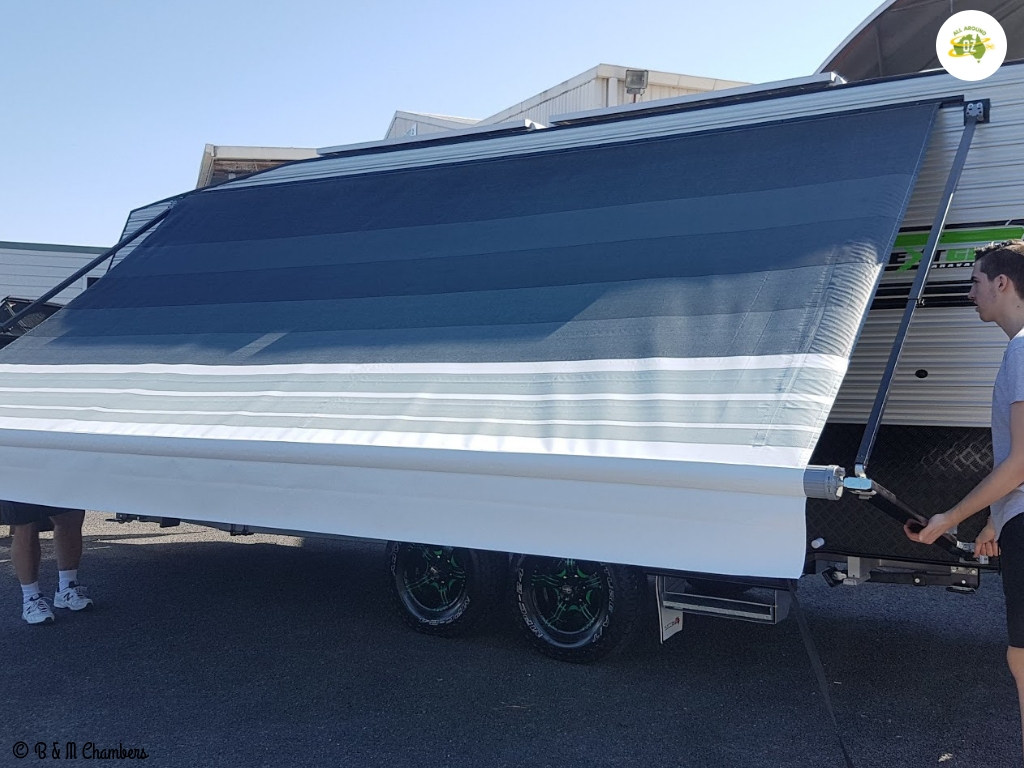 Tips for picking up a new caravan - awning