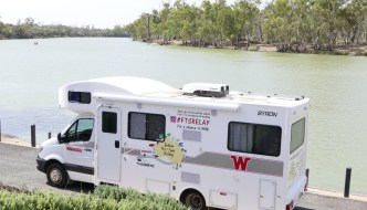 Winnebago Motor Home - Parked Riverside