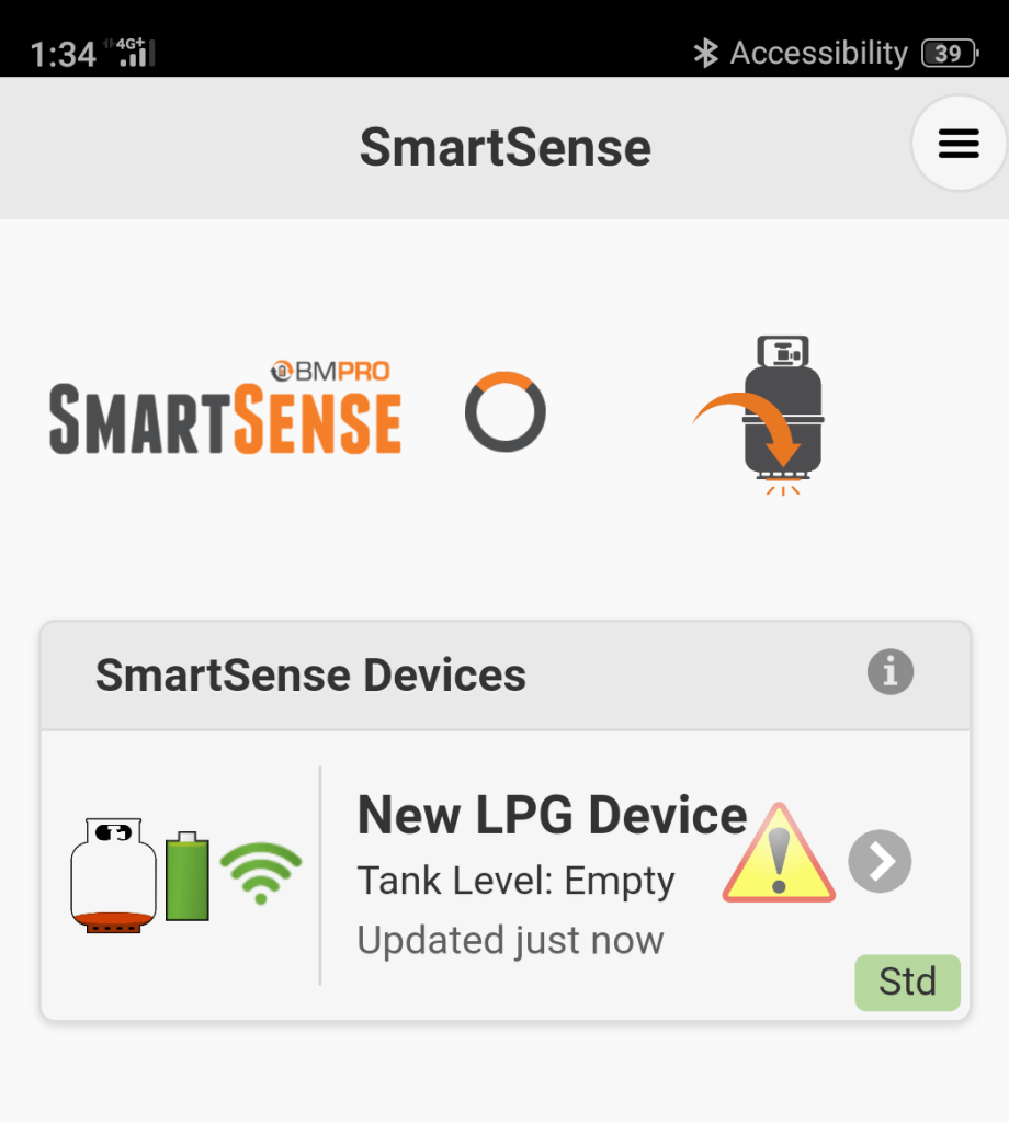 SmartSense Gas Level Monitor