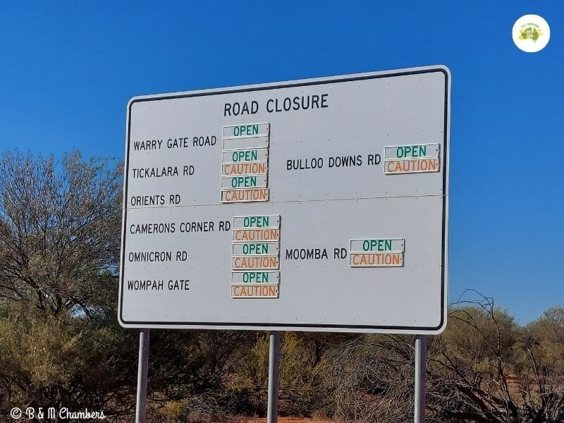 Driving in the Outback - Advisory Signs