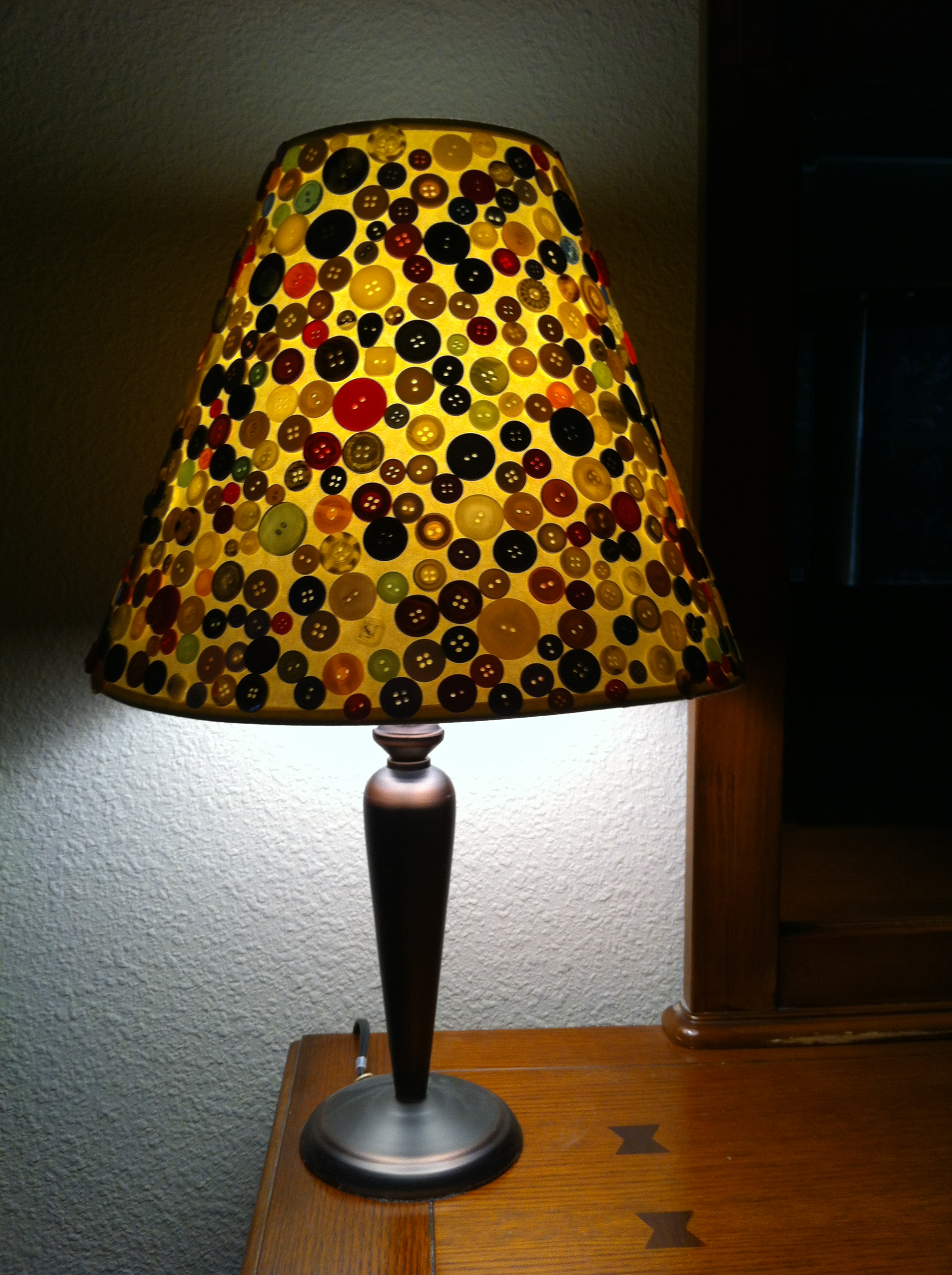button lampshade  ALL AROUND THE MULBERRY BUSH