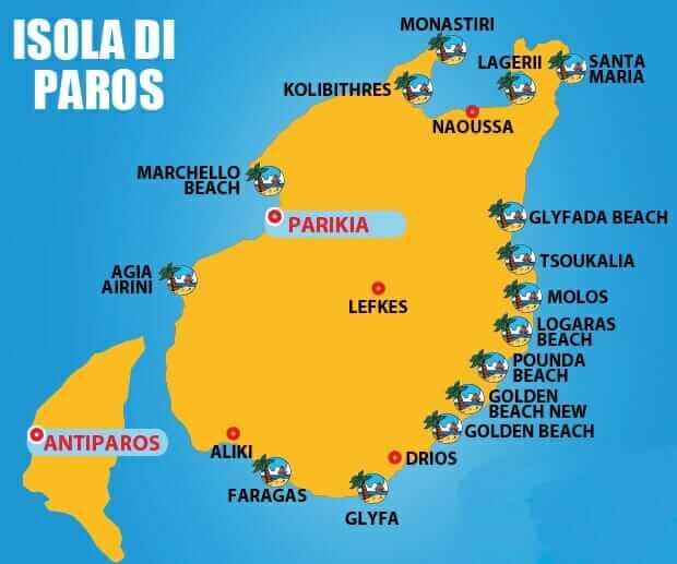 Le fantastiche spiagge di Paros per bambini  AllArremviaggio