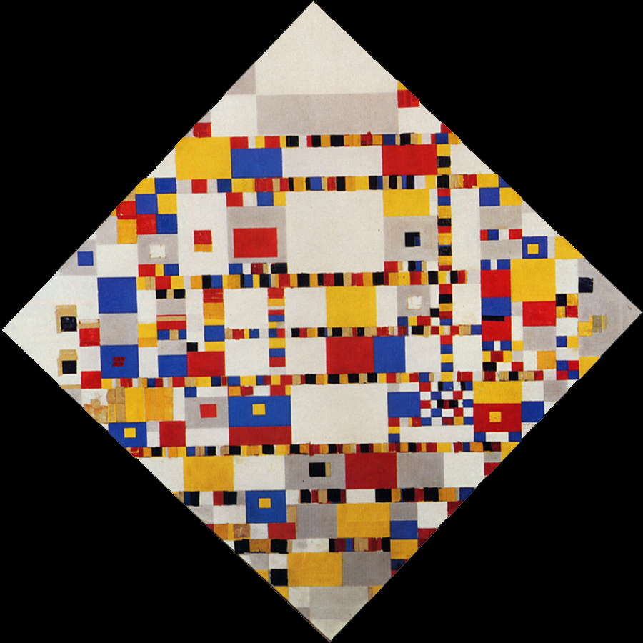 Image result for Victory boogie woogie Mondrian