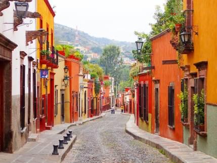 サンミゲルデアジェンデの美しい街並み