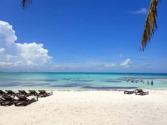 カンクンのビーチ海3