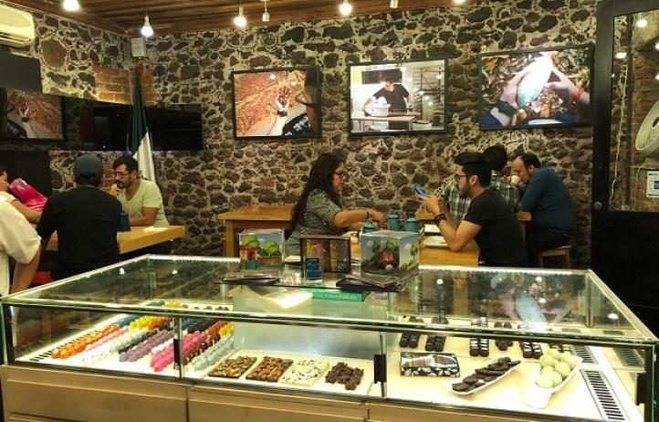 メキシコシティ「Que Bo!」のチョコレート屋さん店内