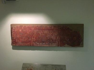 テオティワカン遺跡の壁画博物館の展示品