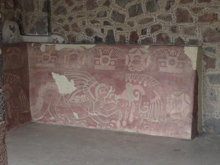 テオティワカン遺跡の壁画の一部