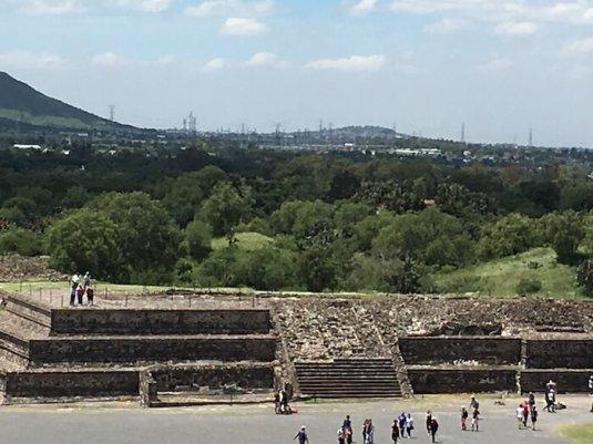 テオティワカン遺跡の発掘場所