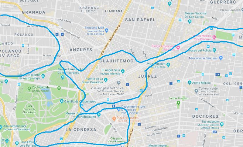 メキシコシティの安全なエリア(ホテル選びに)